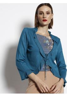 Casaqueto Com Babados - Azul- Cotton Colors Extracotton Colors Extra