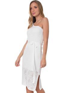 Vestido Midi Myah Pérola Natural Branco Réveillon