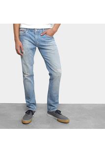 Calça Jeans Slim Tommy Jeans Estonada Scanton Sgllb Masculino - Masculino-Azul