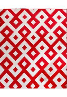 Tapete Andino Geométrico Iv Retangular Polipropileno (133X190) Vermelho