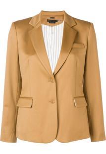Alice+Olivia Tailored Blazer Jacket - Marrom