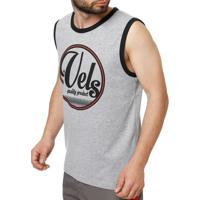 Camiseta Regata Masculina Vels Cinza 97262ccaab5