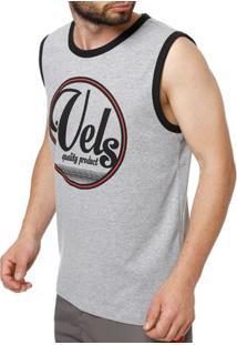 ... Camiseta Regata Masculina Vels Cinza 1484152d7dc