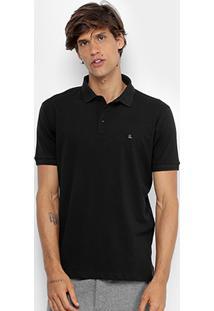 Camisa Polo Foxton Piquet Básica Masculina - Masculino-Preto