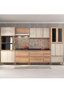 Cozinha Compacta C/Tampo Allure03 Fosco – Fellicci - Carvalho / Blanche