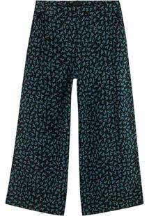 Calça Azul Pantacourt Gatinhos