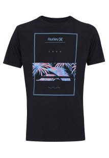 Camiseta Hurley Silk Chasing Paradise - Masculina - Preto
