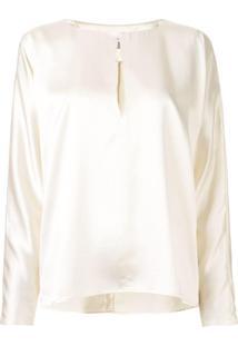 La Collection Blusa Yumi De Cetim - Branco