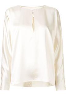 La Collection Yumi Satin Blouse - Branco