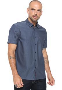 Camisa Aramis Reta Bolso Azul