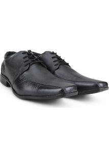 Sapato Social Couro Walkabout Bico Quadrado - Masculino-Preto
