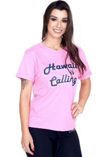 Camiseta Shatark Hawaii - Rosa