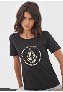 Camiseta Volcom Forget Yoself Preta - Kanui