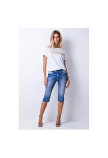 Calça Curta Lança Perfume Jeans Azul