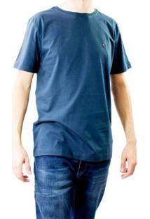 Camiseta Masculina Gola Redonda Tommy Hilfiger - Masculino-Marinho