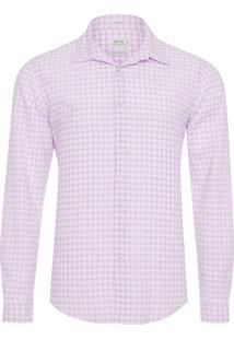 Camisa Masculina Linho Antibes - Rosa
