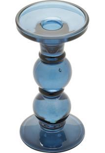 Castiçal De Vidro Royal 60042 18Cm Azul