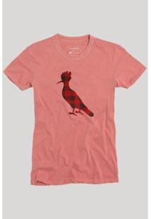 Camiseta Pica-Pau Xadrez Junino Reserva Masculina - Masculino-Vermelho Claro