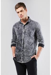 Camisa Regular Indigo Malha Inv.17 Reserva Masculina - Masculino-Preto
