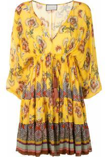 Alexis Vestido Com Estampa Floral Holli - Amarelo