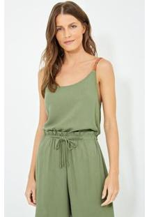 Blusa Ateen Tranca Bicolor Feminina - Feminino-Verde