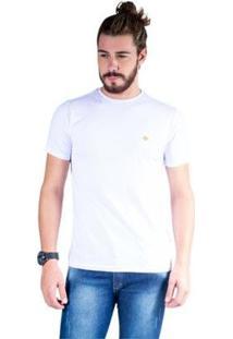 Camiseta Mister Fish Gola Careca Basic Masculina - Masculino-Branco