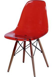 Cadeira Eames Dkr- Vermelha & Bege Escuro- 80,5X46,5Or Design