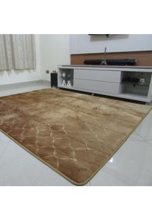 Tapete Aveludado 3D Bege Textil Design