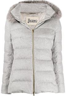 Herno Short Puffer Coat - Cinza