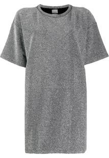 Pinko Vestido Decote Careca - Cinza