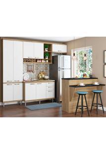 Cozinha Compacta Com Tampo 6 Peças 5844 Sicília - Multimóveis - Argila / Branco