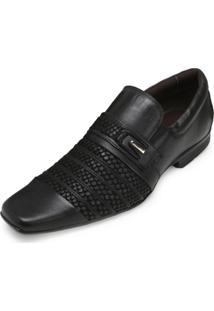 Sapato Focal Flex Couro Ff18-1517 Preto