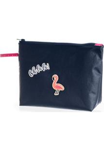 Necessaire Flamingo Lisa - P979 Azul Scuba/Tu