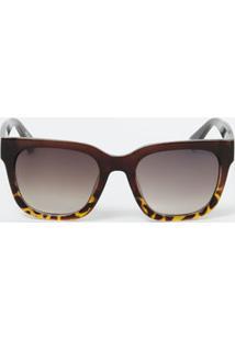 d68ddaf2987b8 ... Óculos De Sol Feminino Estampado Quadrado Marisa