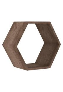 Nicho Hexagonal 400X346X180 Mm Rustico Movelbento Marrom