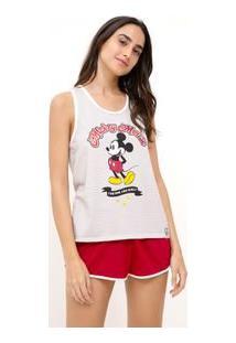 Pijama Regata Com Estampa Localizada Mickey
