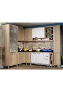 Cozinha Completa Multimóveis Com 11 Peças Sicília 5805 Argila/Branco