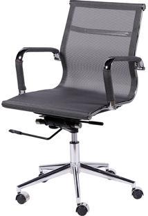 Cadeira Office Eames Tela Baixa Giratória Or-3303 – Or Design - Cinza