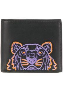 Kenzo Carteira Com Bordado Tiger - Preto