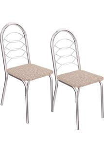 Kit 2 Cadeiras Holanda C009 - Kappesberg - Linho Marrom