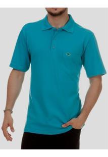 Camisa Pau A Pique Polo - Masculino-Azul Piscina