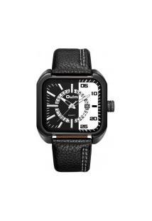 Relógio Masculino Oulm Hp3876 Analógico - Preto E Branco