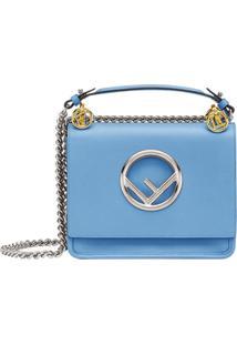 Fendi Bolsa Kan I Mini - Azul