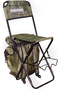 Cadeira Com Mochila Dobrável Camuflada Hms043 Marine Sports