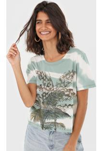 Camiseta Oh, Boy! Palm Tie Dye Verde