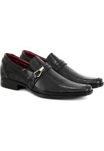 Sapato Social Vicarello Bico Quadrado Masculino - Masculino-Preto