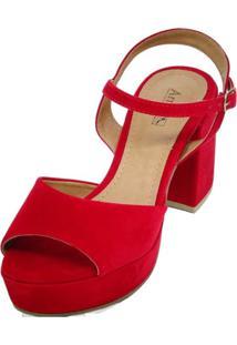 Sandália Arrive Fashion Gloria Vermelho