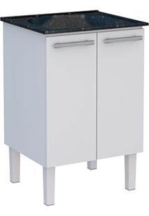 Gabinete Para Lavanderia 60Cm Aço Vênus Flat Preto Com Tanque 56,9X91,5X51,6Cm - Cozimax - Cozimax