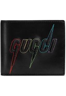Gucci Carteira Com Bordado Gucci Blade - Preto