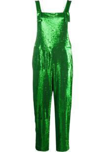 P.A.R.O.S.H. Macacão Reto Com Bordado - Verde